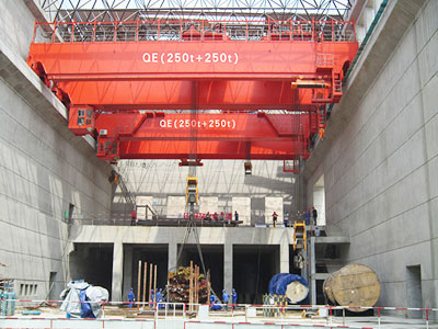 Double Trolley Bridge Crane