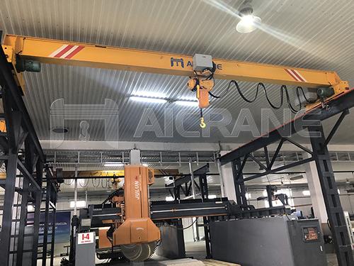 Electric Single Girder Overhead Crane in Factory