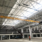 European 5 Ton Single Girder Underhung Crane Installation