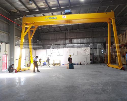 Workshop Double Girder Gantry Crane Manufacturer