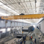 European Hoist Double Girder Overhead Crane Installed in Customer's Workshop