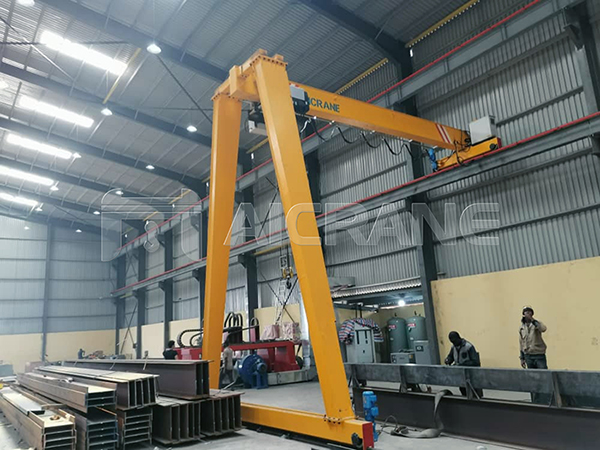 European Hoist Semi Gantry Crane Price